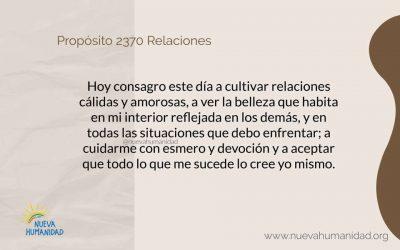Propósito 2370 Relaciones