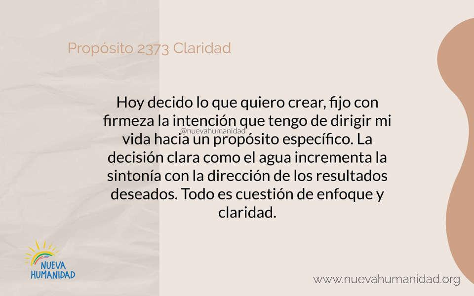 Propósito 2373 Claridad