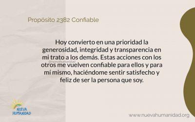 Propósito 2382 Confiable