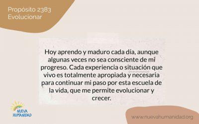Propósito 2383 Evolucionar