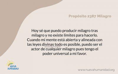 Propósito 2387 Milagro
