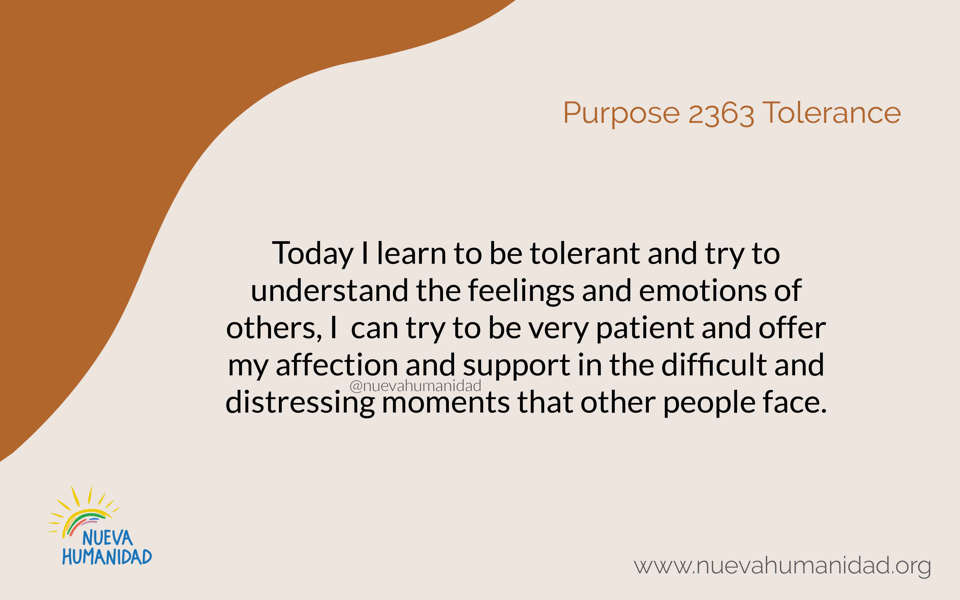 Purpose 2363 Tolerance