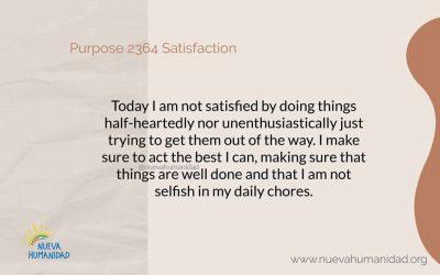 Propósito 2364   Satisfaction
