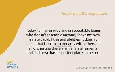 Purpose 2366  Unrepeatable