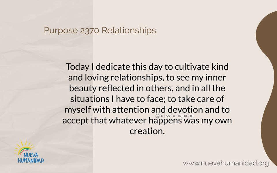 Purpose 2370 Relationships