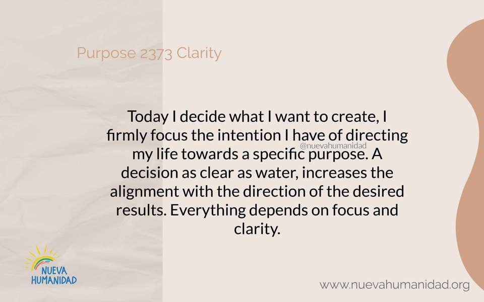 Purpose 2373 Clarity