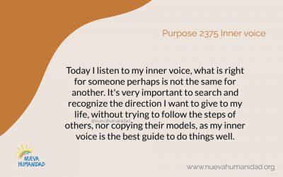 Purpose 2375 Inner voice