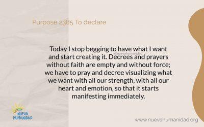 Purpose 2385 To declare