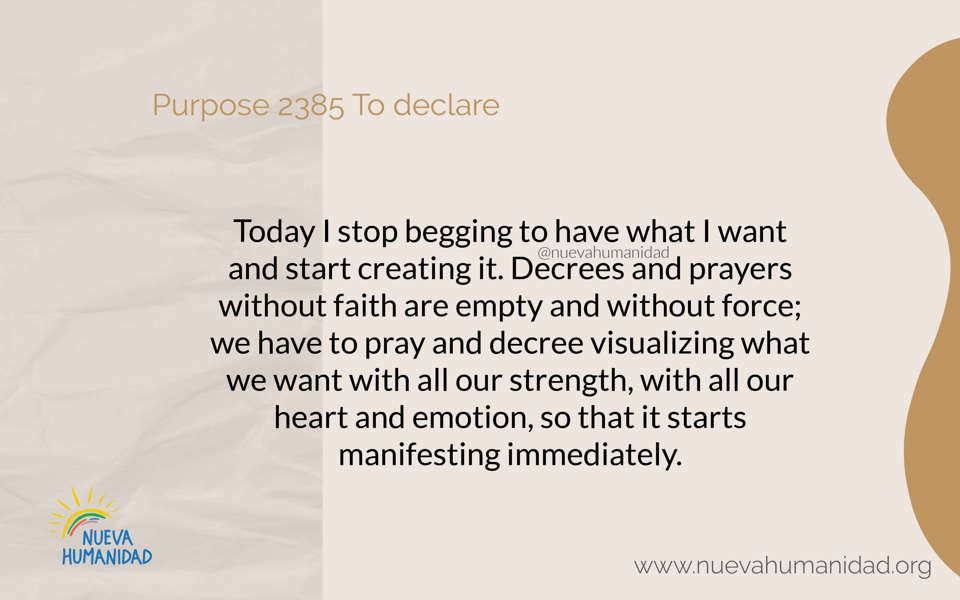 Purpose 2385 To declare
