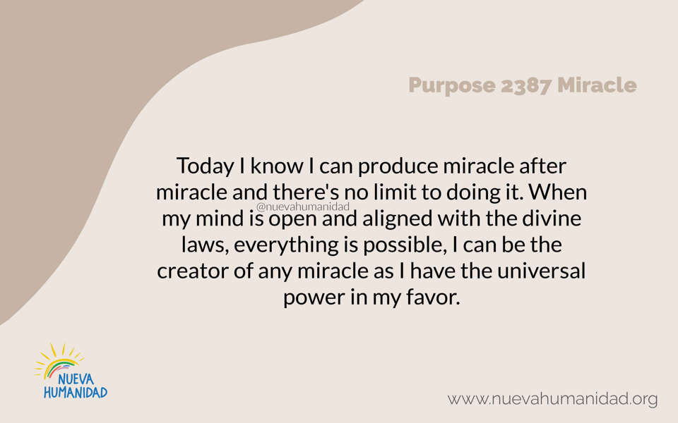 Purpose 2387 Miracle