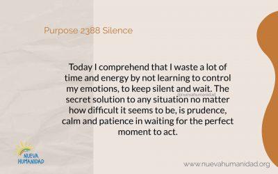 Purpose 2388 Silence