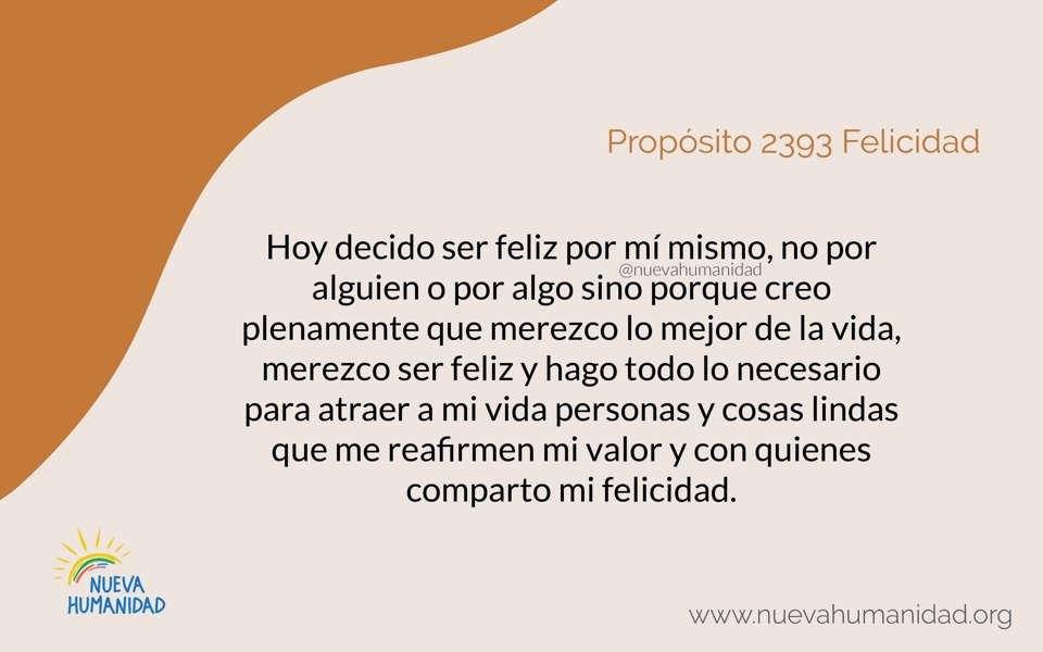Propósito 2393 Felicidad