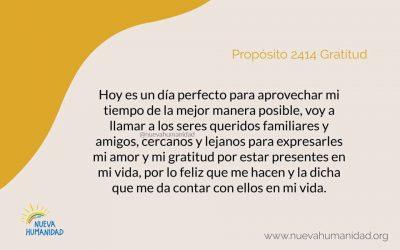 Propósito 2414 Gratitud
