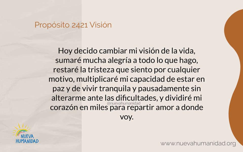 Propósito 2421 Visión
