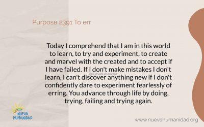Purpose 2391 To err
