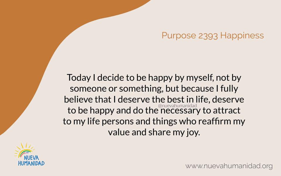 Purpose 2393 Happiness