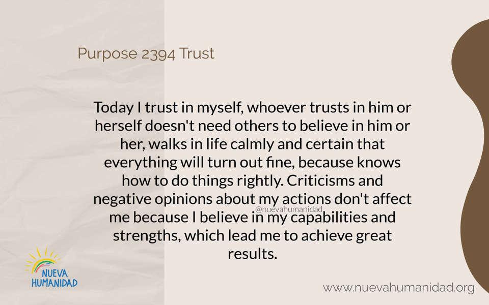 Purpose 2394 Trust