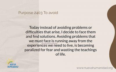 Purpose 2403 To avoid