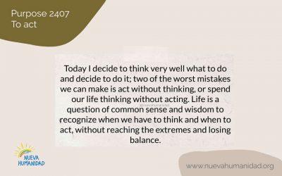 Purpose 2407 To act