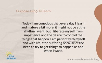 Purpose 2409 To learn