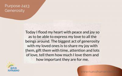 Purpose 2413 Generosity