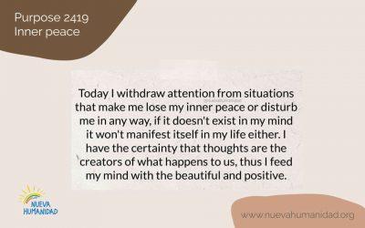 Purpose 2419 Inner peace