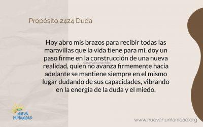 Propósito 2424 Duda