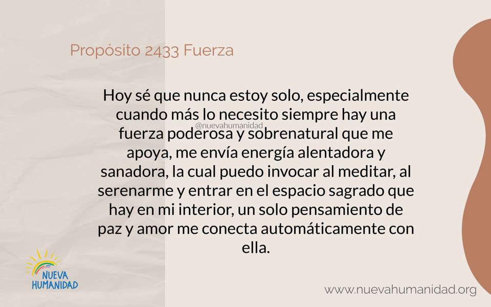 Propósito 2433 Fuerza