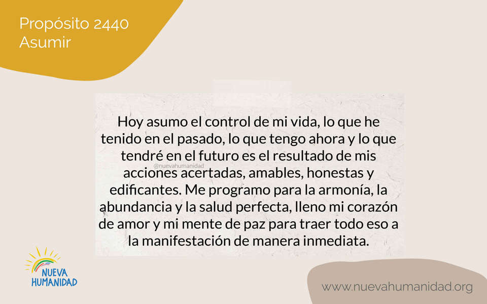 Purpose 2440 To take control