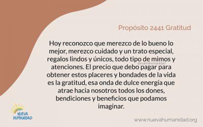 Propósito 2441 Gratitud