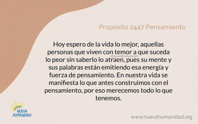 Propósito 2447 Pensamiento