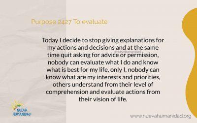 Purpose 2427 To evaluate