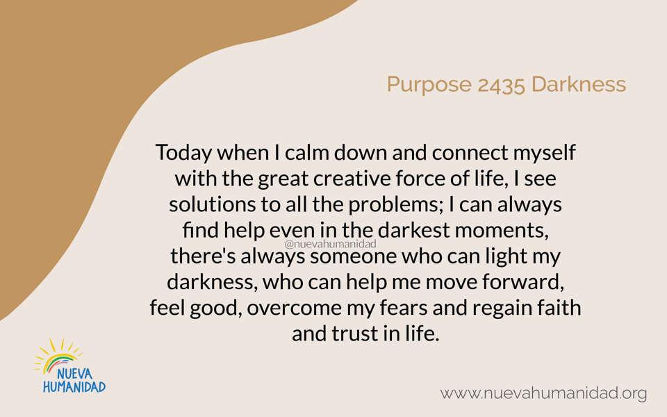 Purpose 2435 Darkness