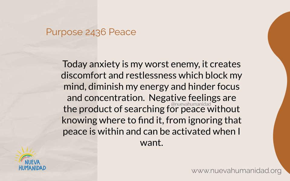 Purpose 2436 Peace