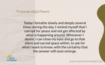 Purpose 2439 Peace