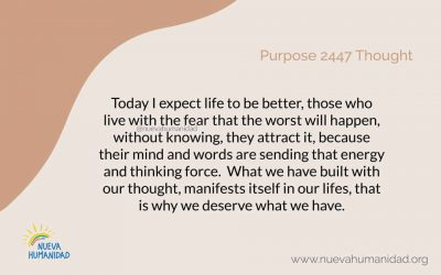 Purpose 2447 Thought