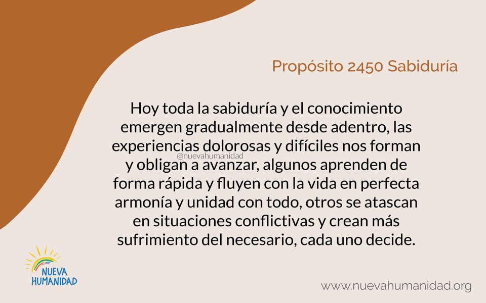 Propósito 2450 Sabiduría