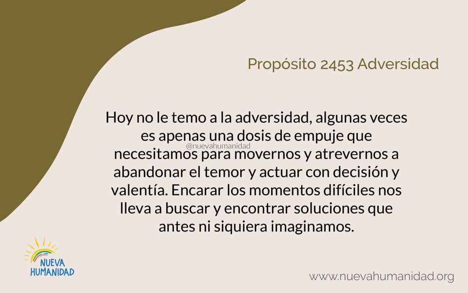 Propósito 2453 Adversidad