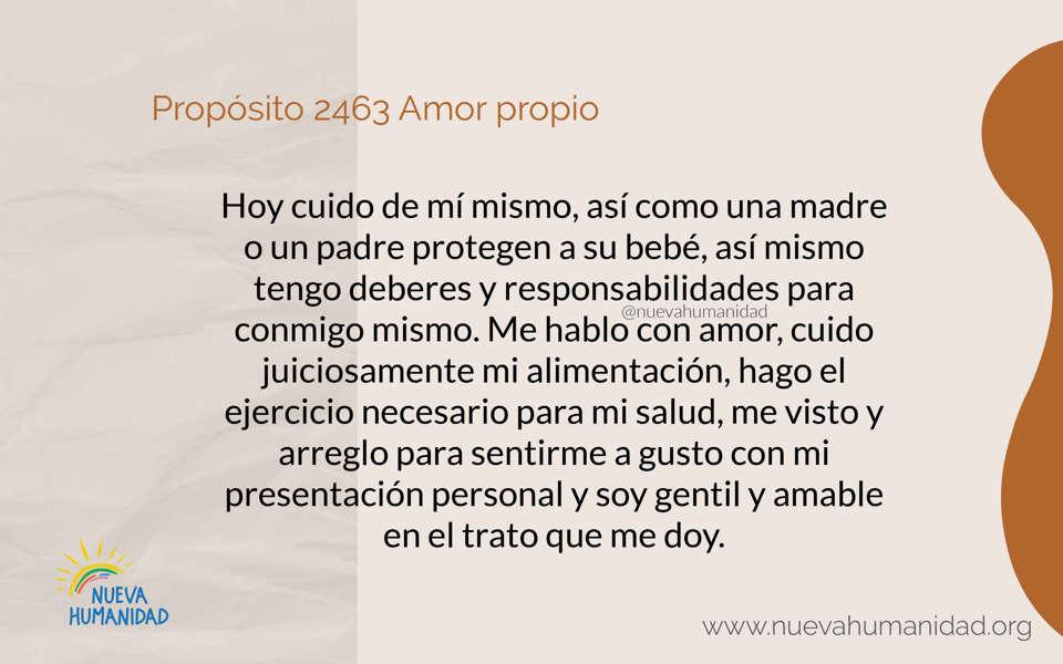 Propósito 2463 Amor propio