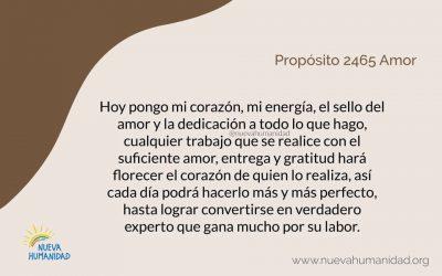 Propósito 2465 Amor