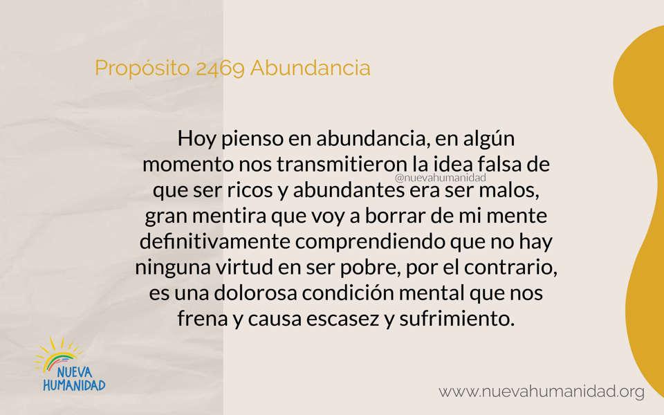 Propósito 2469 Abundancia