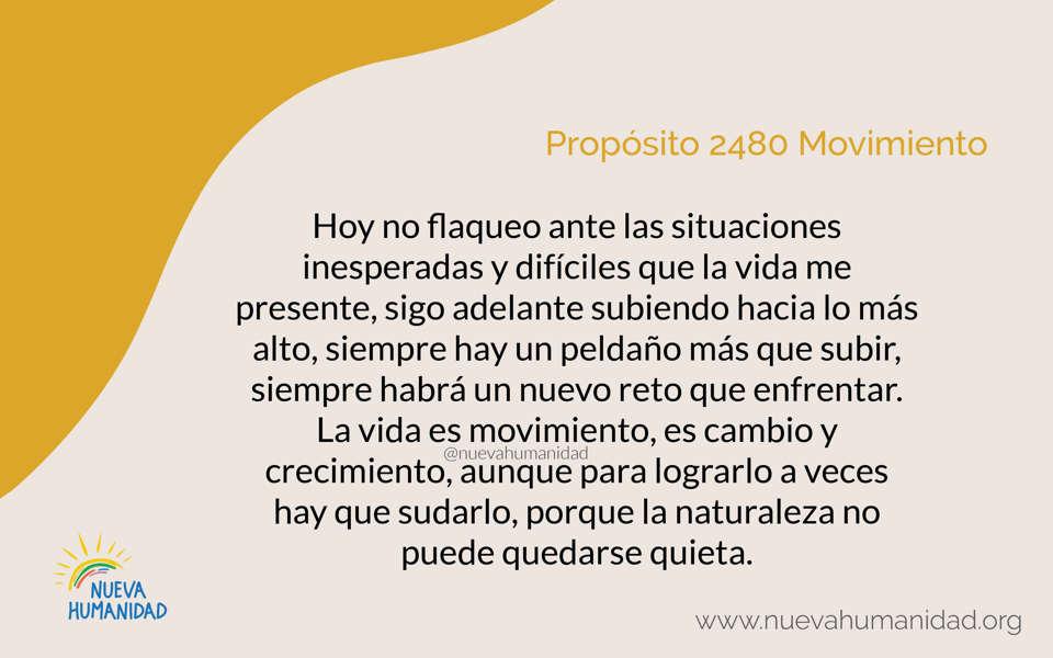 Propósito 2480 Movimiento