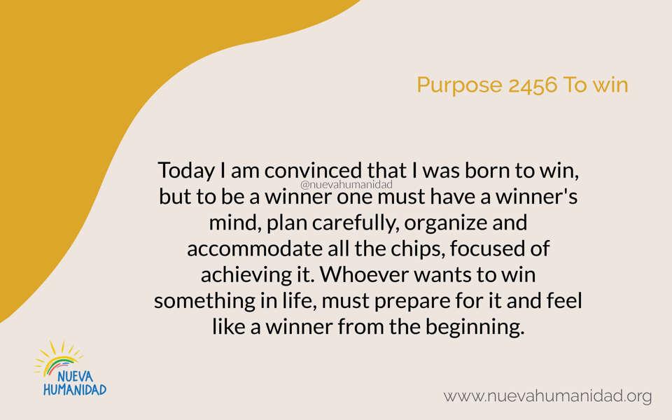 Purpose 2456 To win