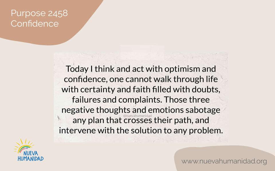 Purpose 2458 Confidence