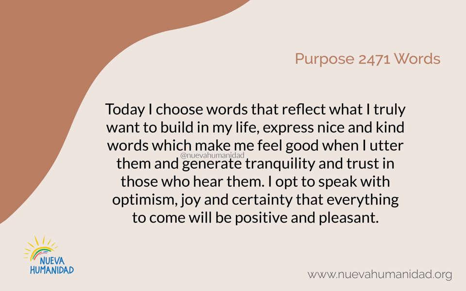 Propósito 2471 Palabras