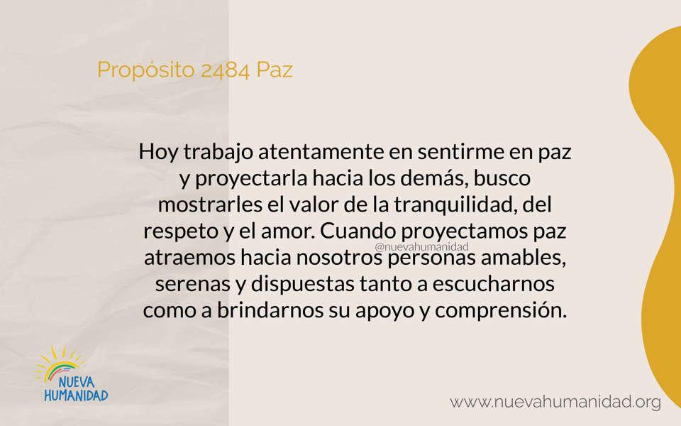 Propósito 2484 Paz