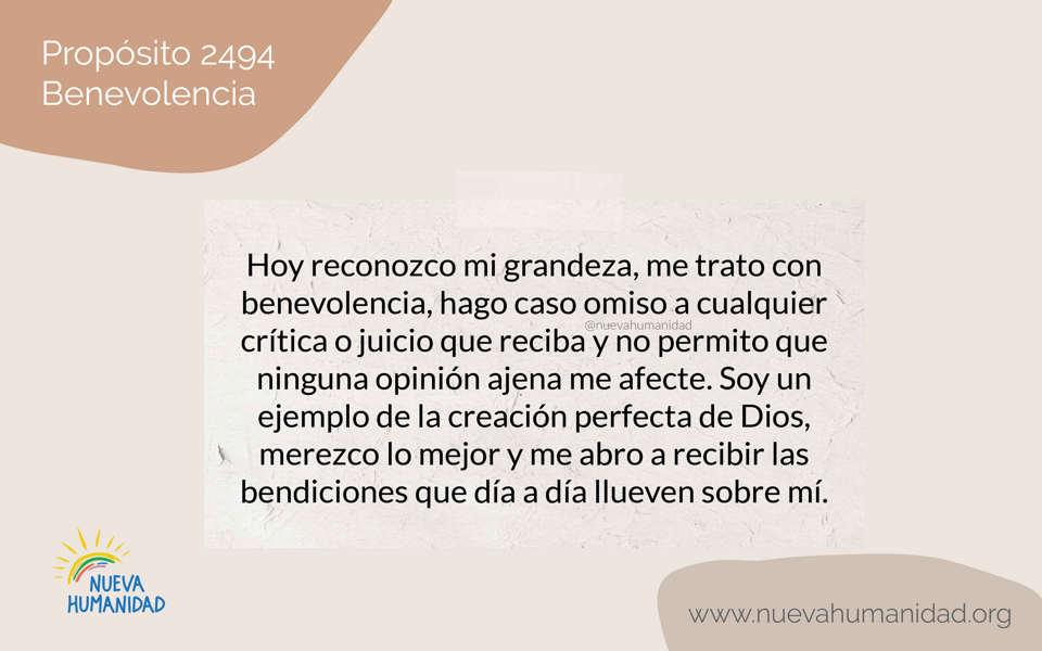 Propósito 2494 Benevolencia