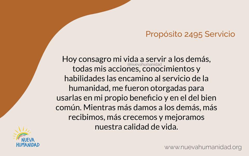 Propósito 2495 Servicio