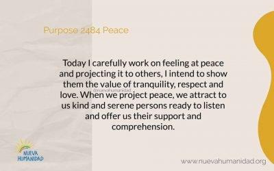 Purpose 2484 Peace