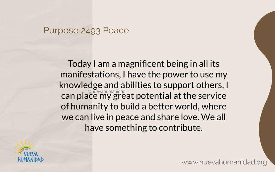 Purpose 2493 Peace